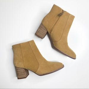 Madewell Bryce Suede Chelsea Ankle Boot Brown 7